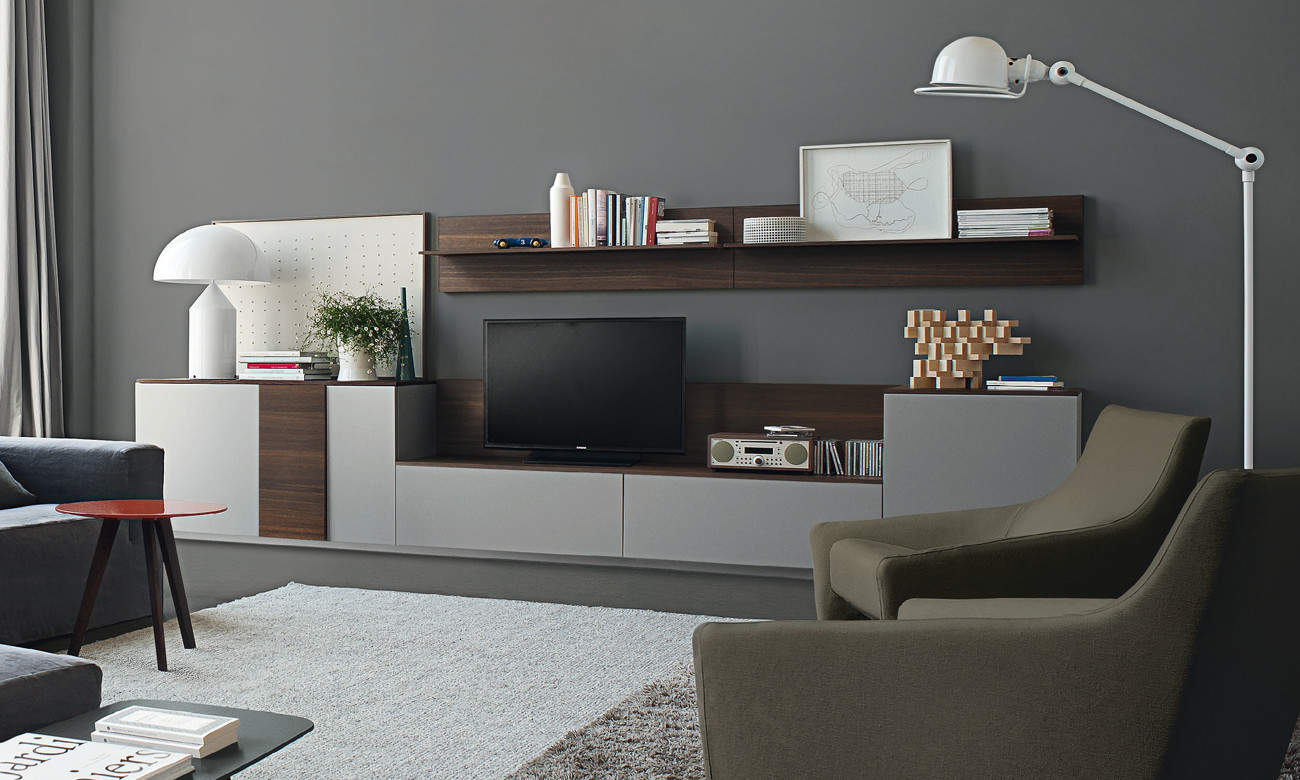 Mueble sal n moderno de la marca italiana jesse open o01 for Muebles tv diseno italiano