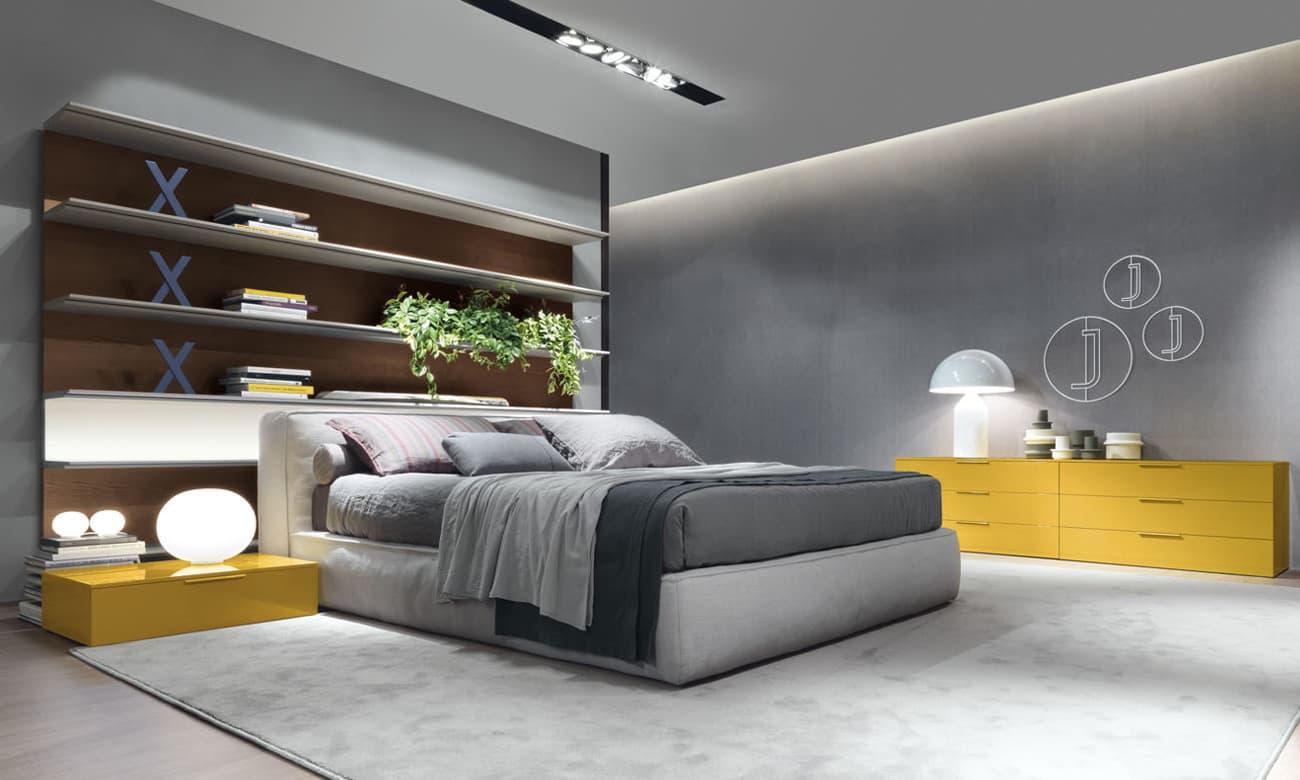 Dormitorio dise o jesse modelo mark cama tapizada for Dormitorios cama 1 05