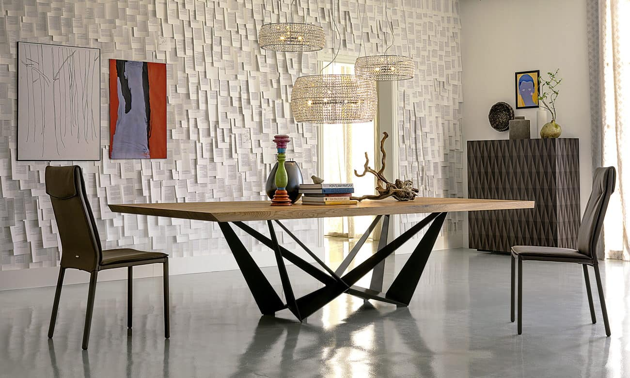 skorpio wood mesa de cattelan italia decoramos es. Black Bedroom Furniture Sets. Home Design Ideas