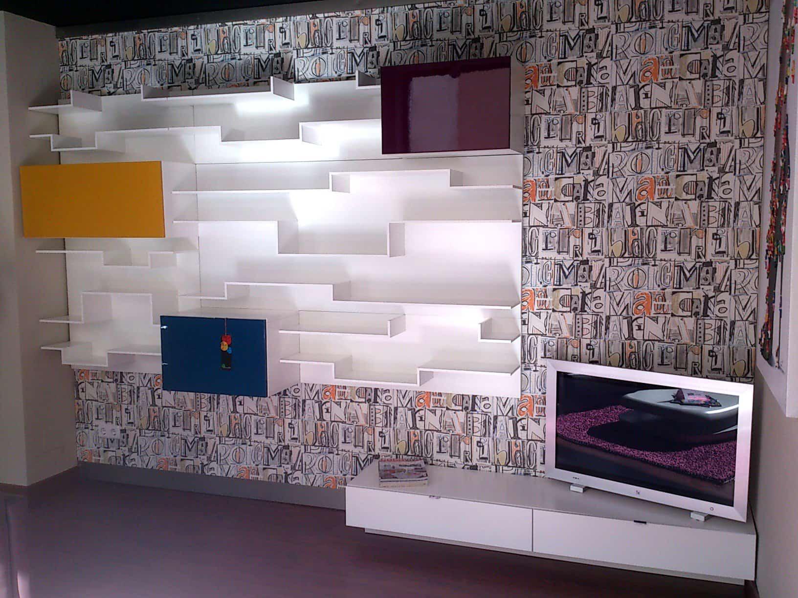 Composici n mueble de sal n moderno kazzano for Composicion salon moderno