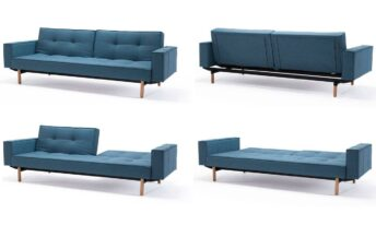 INNOVATION SPLITBACK SOFA CAMA CON BRAZOS