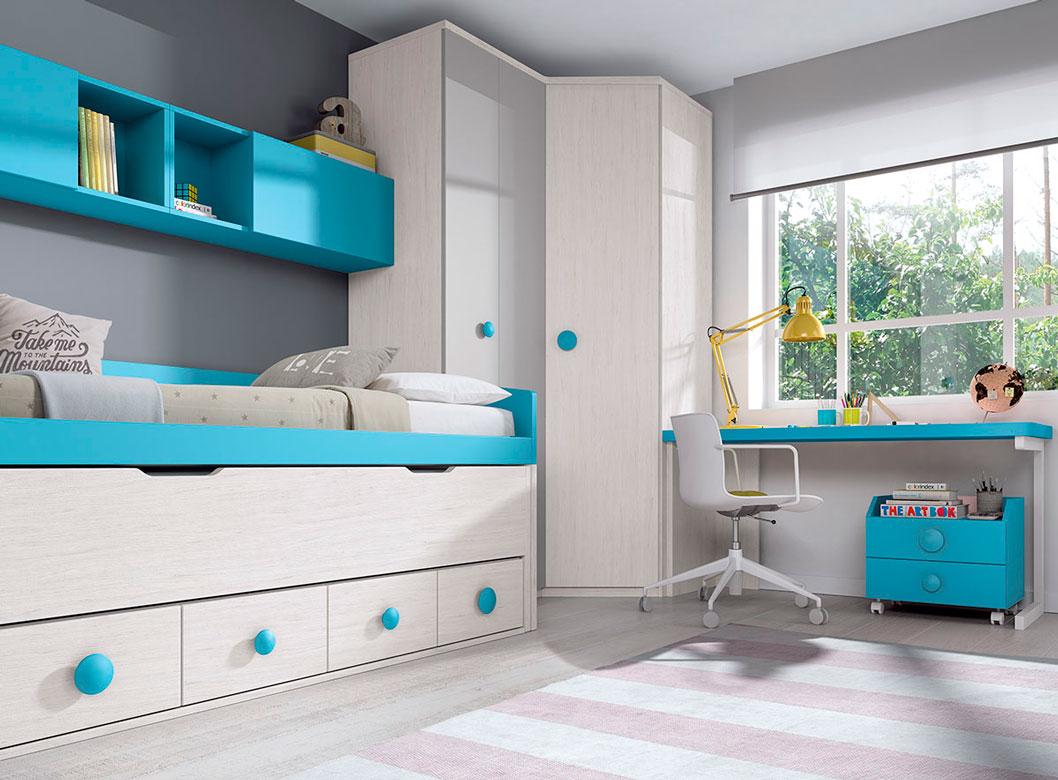 Dormitorio glicerio chaves f141 decoramos es - Dormitorios juveniles formas ...