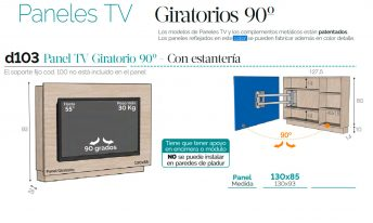 BAIXMODULS SOPORTE TV D03