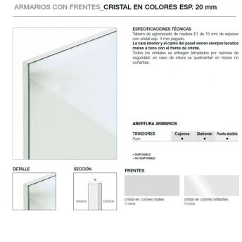 FRENTES 20MM CRISTAL COLORES