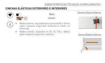 CINCHAS ELÁSTICAS EXTERIORES E INTERIORES