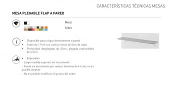 MESA PLEGABLE FLAP A PARED